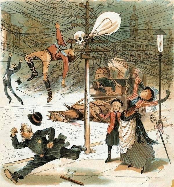anti-électricité 1900